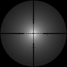 PM II L115A3 reticle blur