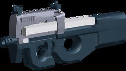P90 angled