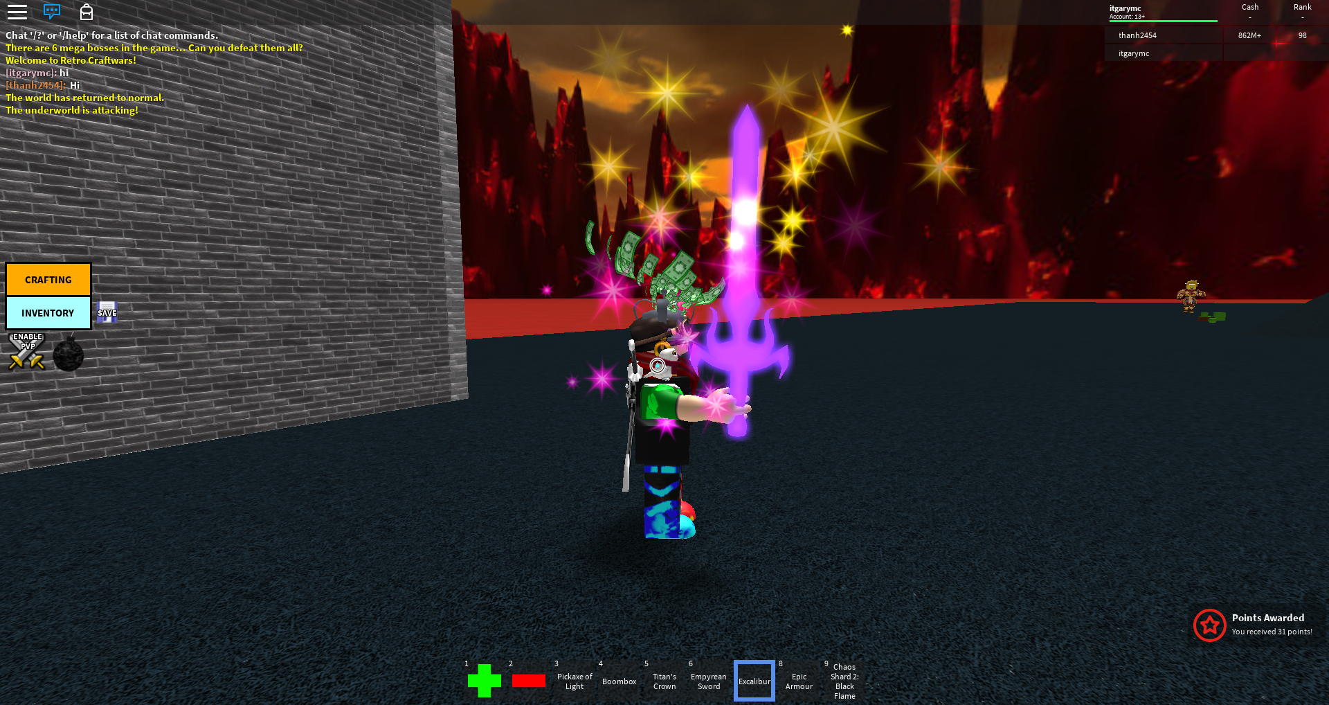 Excalibur Roblox Retro Craftwars Wiki Fandom Powered By Wikia