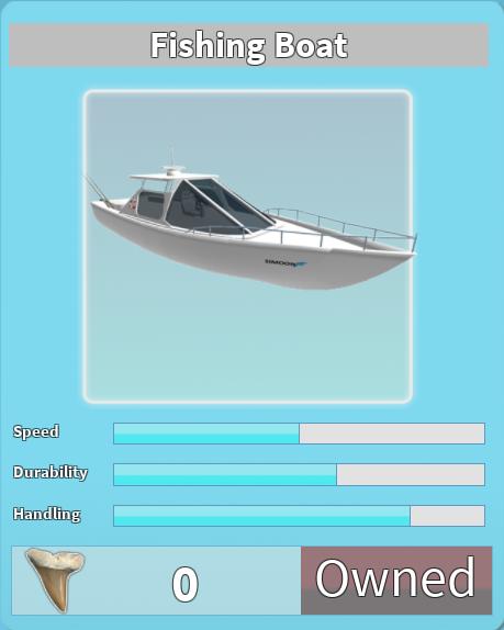 Fishing Boat | Roblox Shark Bite Wiki | FANDOM powered by Wikia