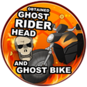 Obtained Ghost Rider Head, Ghost Bike & Hellfire Badge Icon