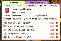 Lordscreety stats