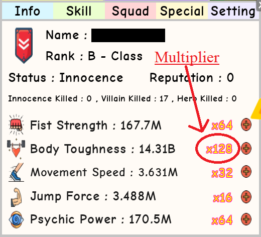 Multipliers | Roblox Super Power Training Simulator Wiki