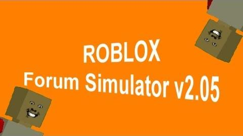 ROBLOX Forum Simulator v2.05