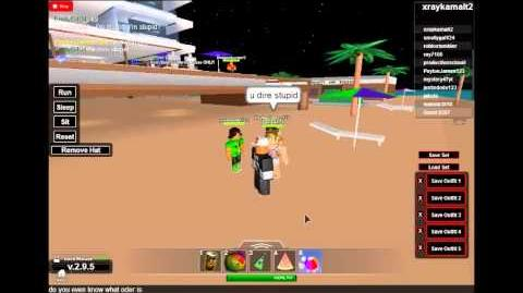 Stupid ODERS on ROBLOX