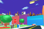 City map with Sonic skybox
