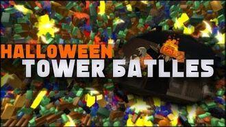 tower battles roblox defeated the halloween boss
