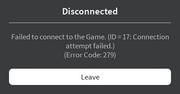 Error Code 279