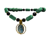 Jade Necklace with Shell Pendant