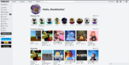 Roblox Current Homepage Layout (Light Mode)