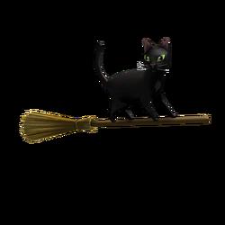 Magic Broom Black Cat