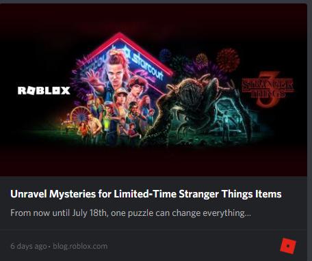 Stranger Things 3 Roblox Wikia Fandom