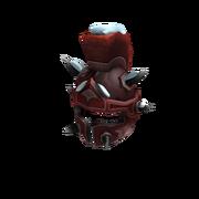 Snowy Red Ice-Nine Drone Helm