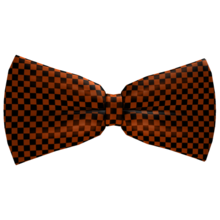 Halloween Checkered Bow Tie