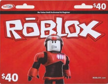 $40 Roblox Game Card (2011 version)