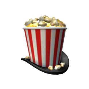 Showtime Bloxy Popcorn Hat | Roblox Wikia | Fandom