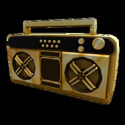0473240a9de978 Golden Super Fly Boombox