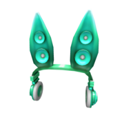 Teal Techno Rabbit Headphones