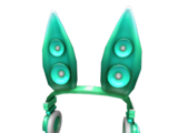 Teal Techno Rabbit Headphones