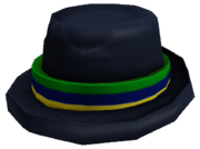 Straw Fedora Green