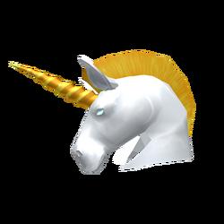 White Unicorn Helm
