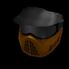 Orange Paintball Mask