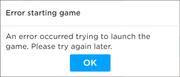 Starting error
