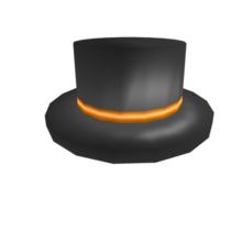 Orange Banded Top Hat