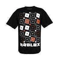 6ff0875b5 ... ROBLOX Game Play with Flying Logos for Young Kids Boys and Girls Black  Tshirt