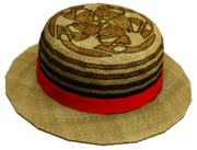 Patterned Straw Hat