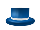 Blue Top Hat with White Band