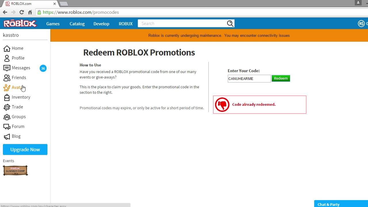 how do i redeem a code on roblox