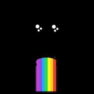 rainbow barf face code roblox