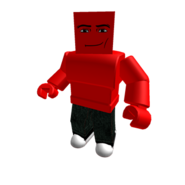 Red Manface Blockhead Colorbot