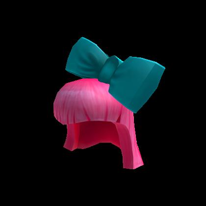 Pink Hair With Giant Cyan Bow Roblox Wikia Fandom