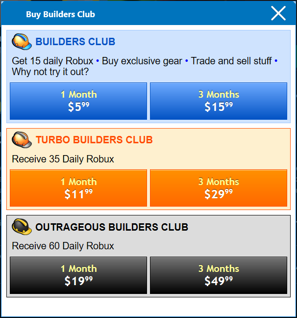 Builders Club Roblox Wikia Fandom