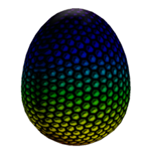 Colored Dot Egg