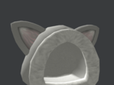 Fuzzy Grey Cat Hood