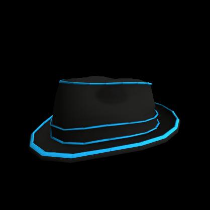 Blue Neon Lights Fedora  2f24f8fcb699