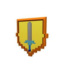 Gold Battle Shield