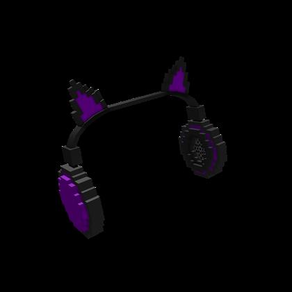 8 Bit Purple Cat Ears Headphones Roblox Wikia Fandom