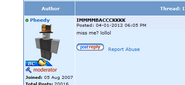 The Roblox Player Pheedy, who was suposedly involved in the hacking