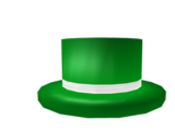 Green Top Hat with White Band