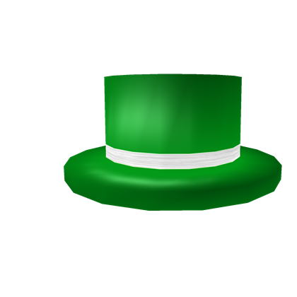 Green Top Hat With White Band Roblox Wikia Fandom