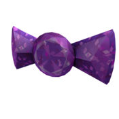 Sparkle Time Amethyst Bow Tie