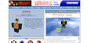 Builderman's ROBLOX Home Page