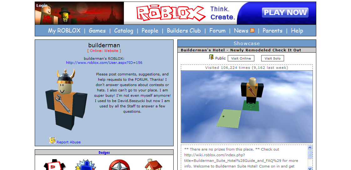 Builderman Roblox Wikia Fandom