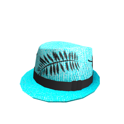 Cyan Tropical Fedora  07f82937308