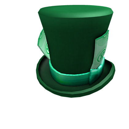Green ROBUX Top Hat  076880feab3