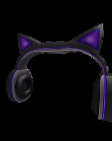 Purple Cat Ears Headphones Roblox Wikia Fandom